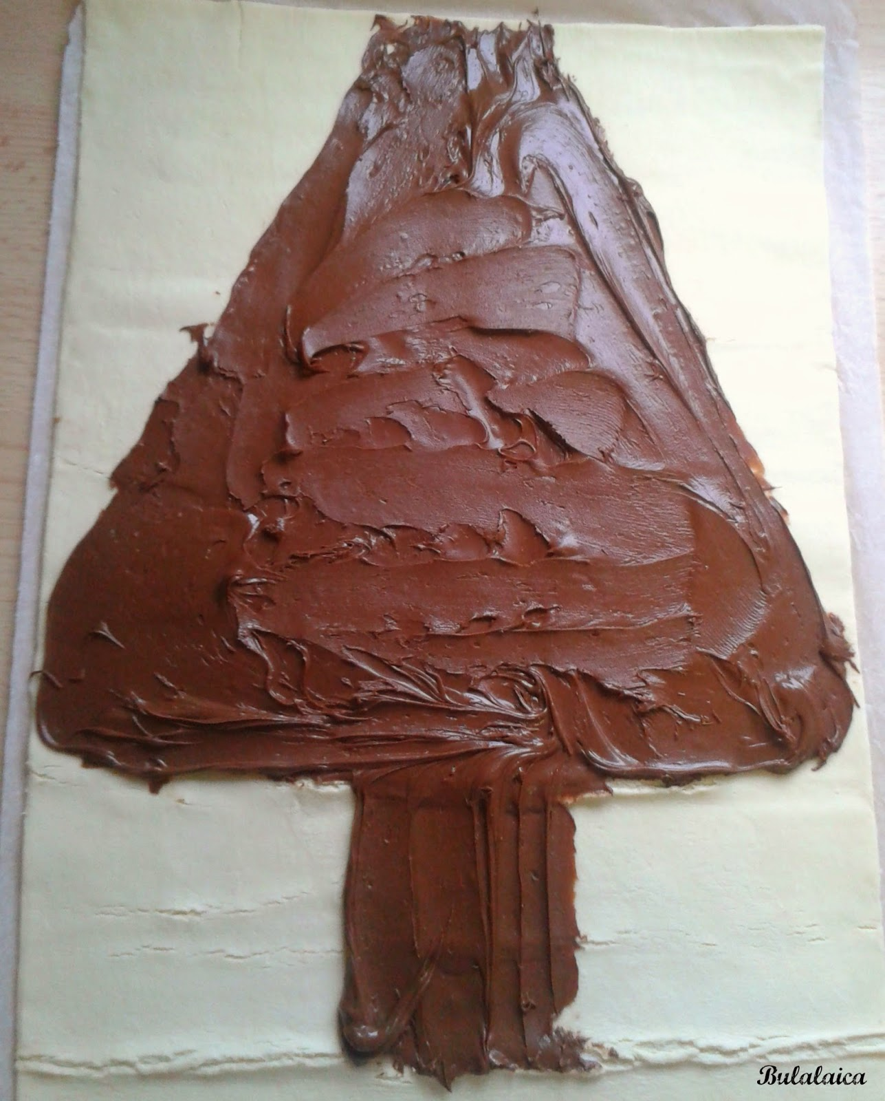 Árbol de Navidad de Hojaldre y Nutella