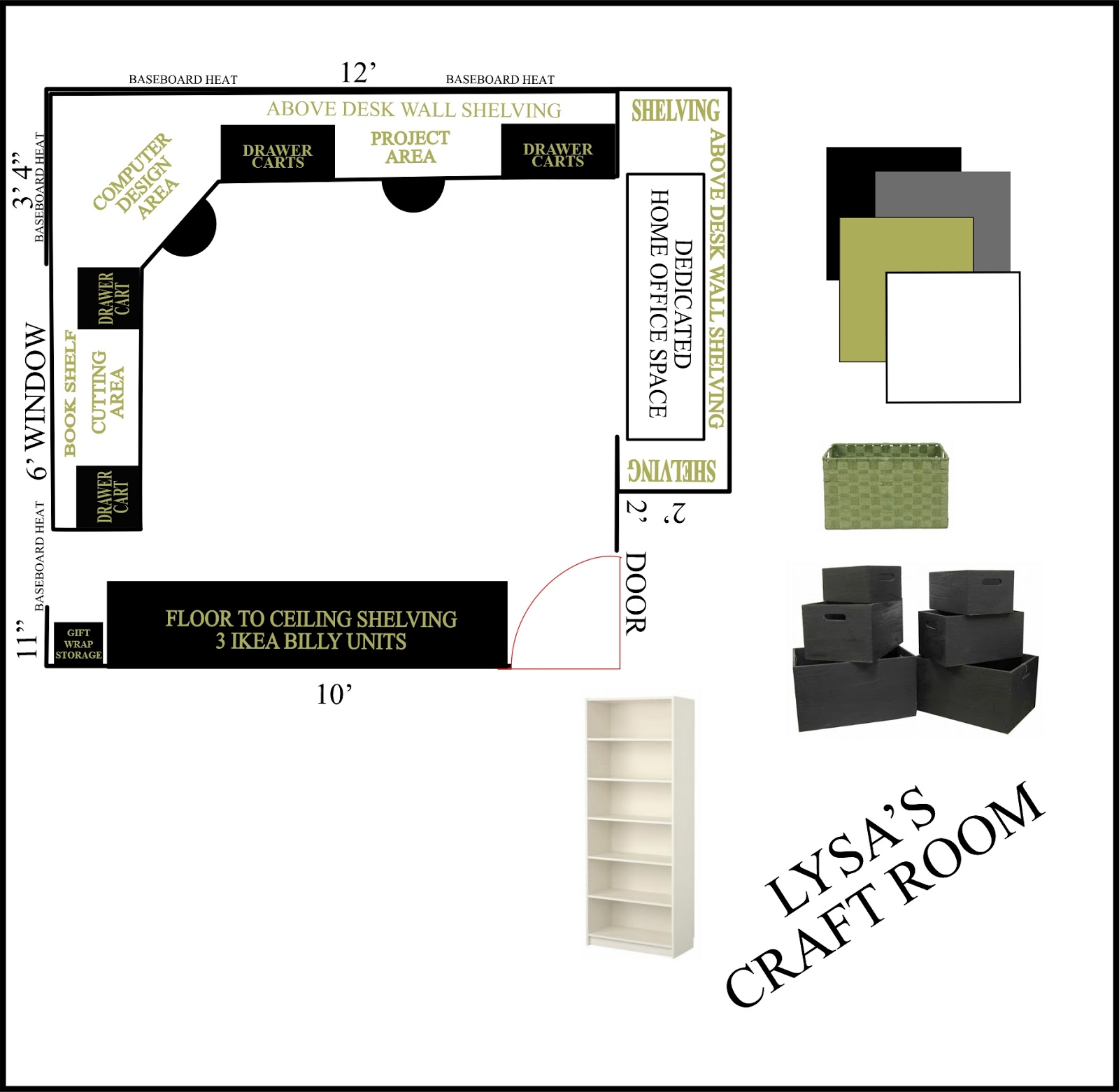 Lysa huey ink one thing leads to another for Craft room design layout