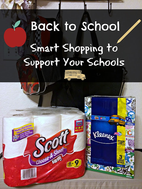 Back to school, Walmart, shopping, Box Tops, Kleenex, Scott Tissue