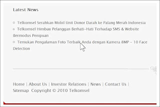 Website Palsu Telkomsel