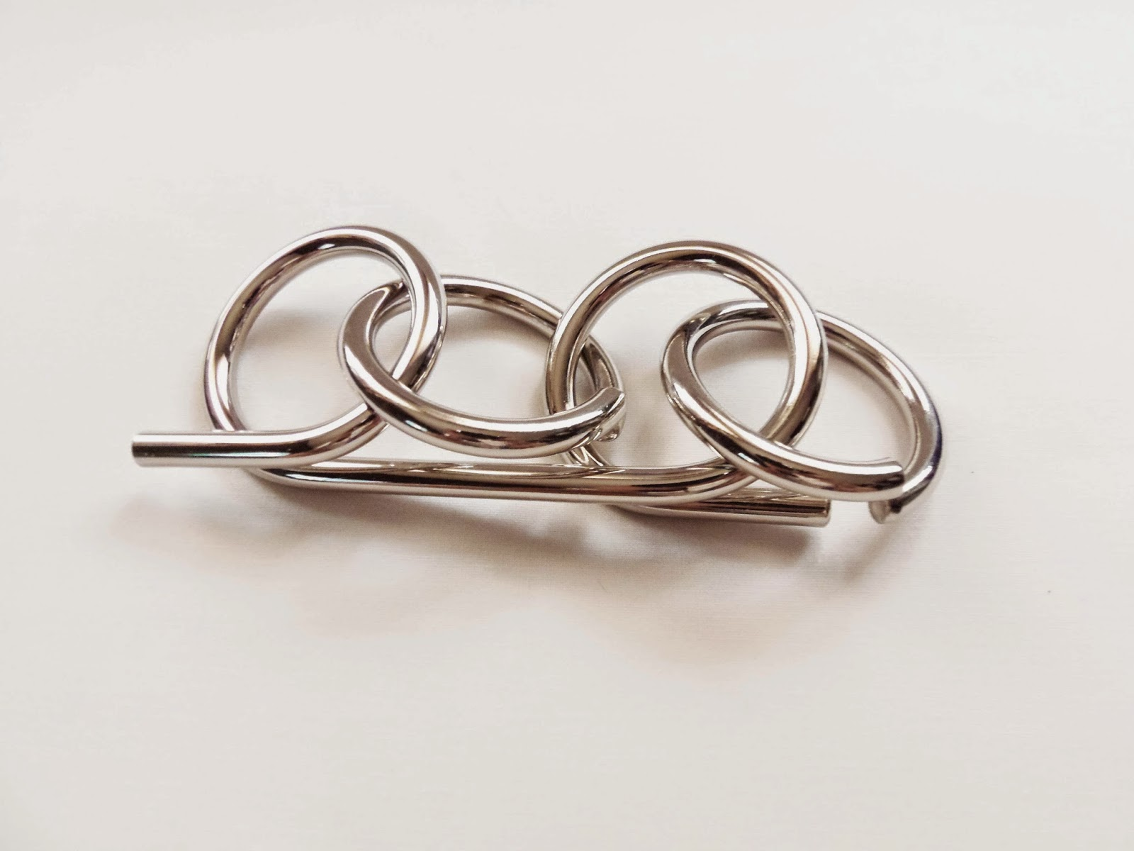accessories silver rings ring loop takk