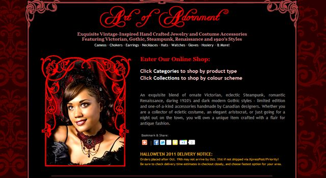 ArtOfAdornment.Ca - Handcrafted Jewelry Gothic