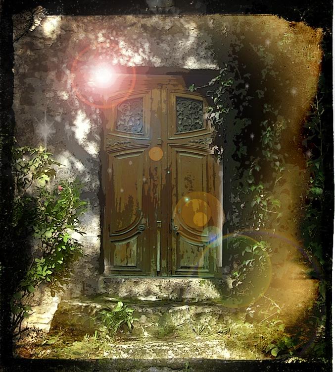 Fairy godmother stories the secret door for Secret fairy doors by blingderella