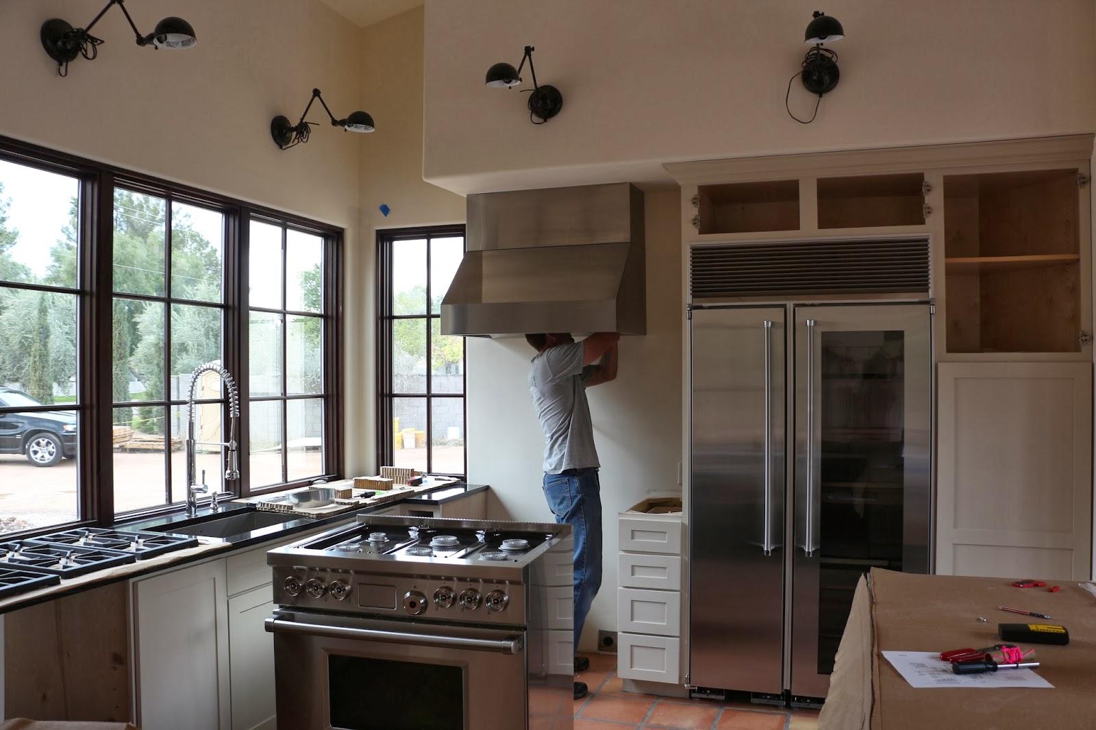 proliner ange hood, wolf stove, marvel refrigerator