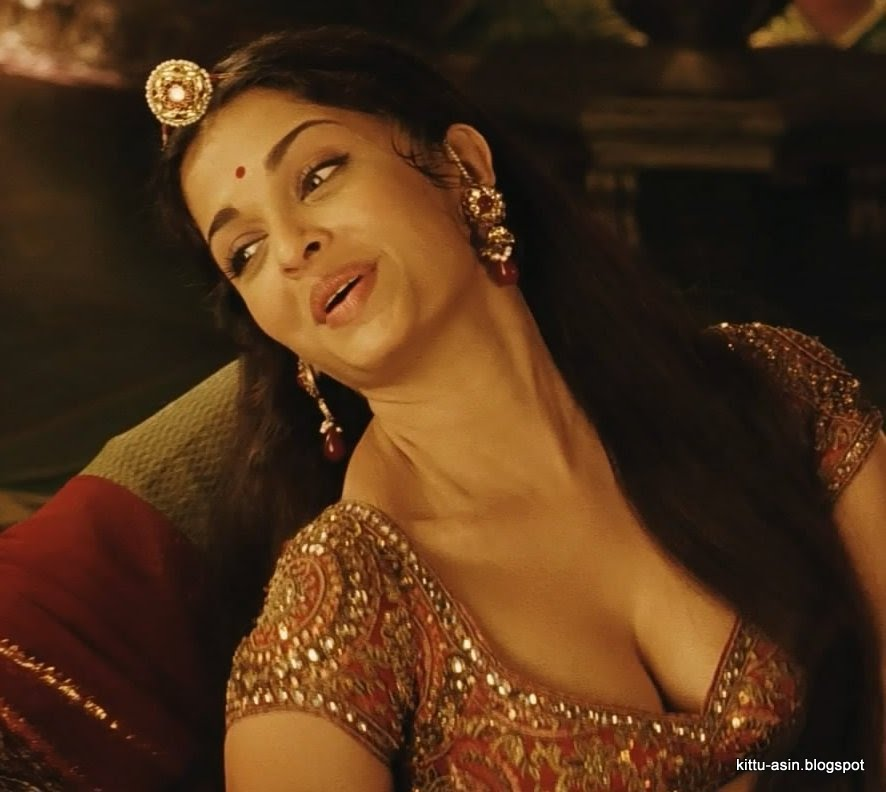hot pix aishwarya rai cleavage show from jodha akbar   more photos