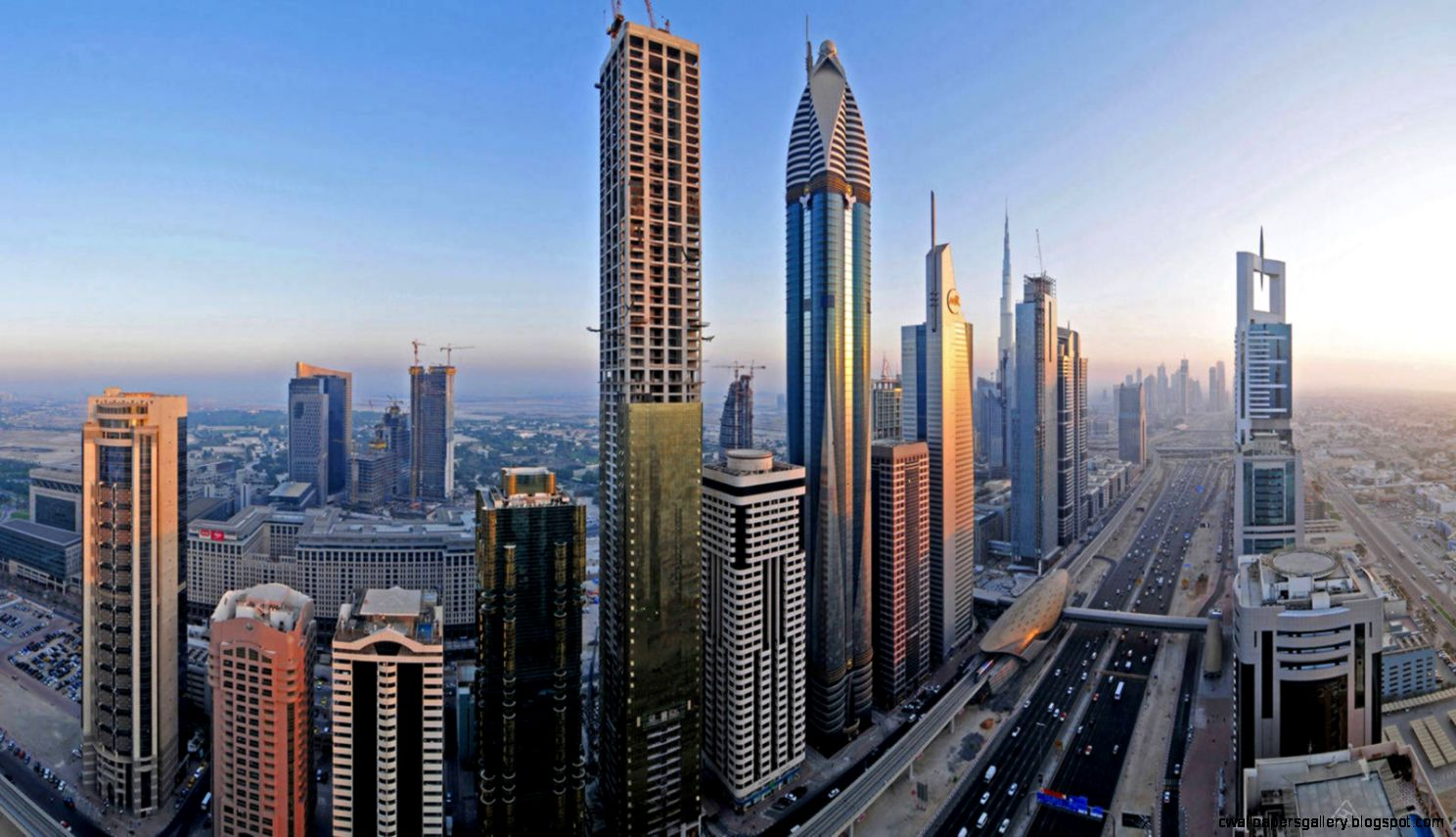 Dubai city panoramic wallpaper  city wallpaper