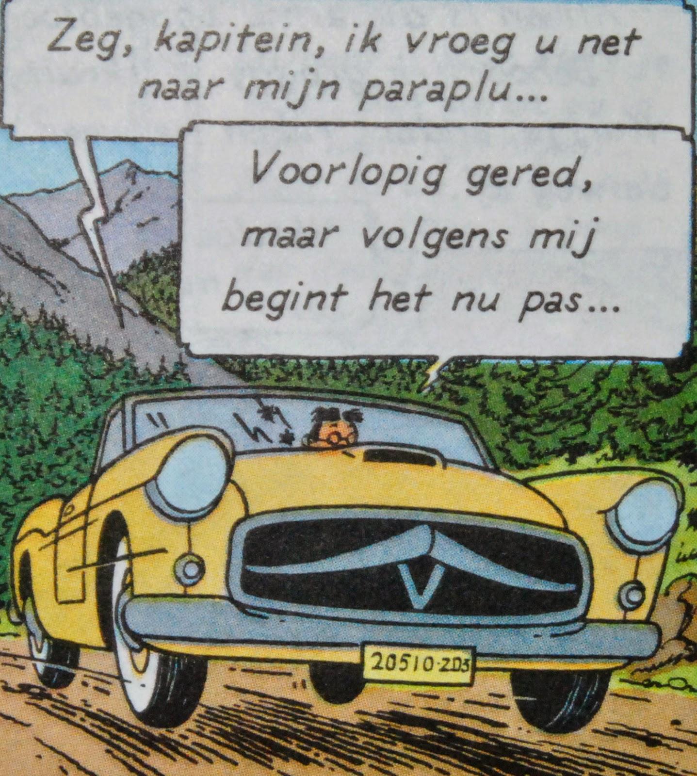 King in yellow de auto 39 s van kuifje in miniatuur de zaak for Schepper van de stripfiguur kuifje
