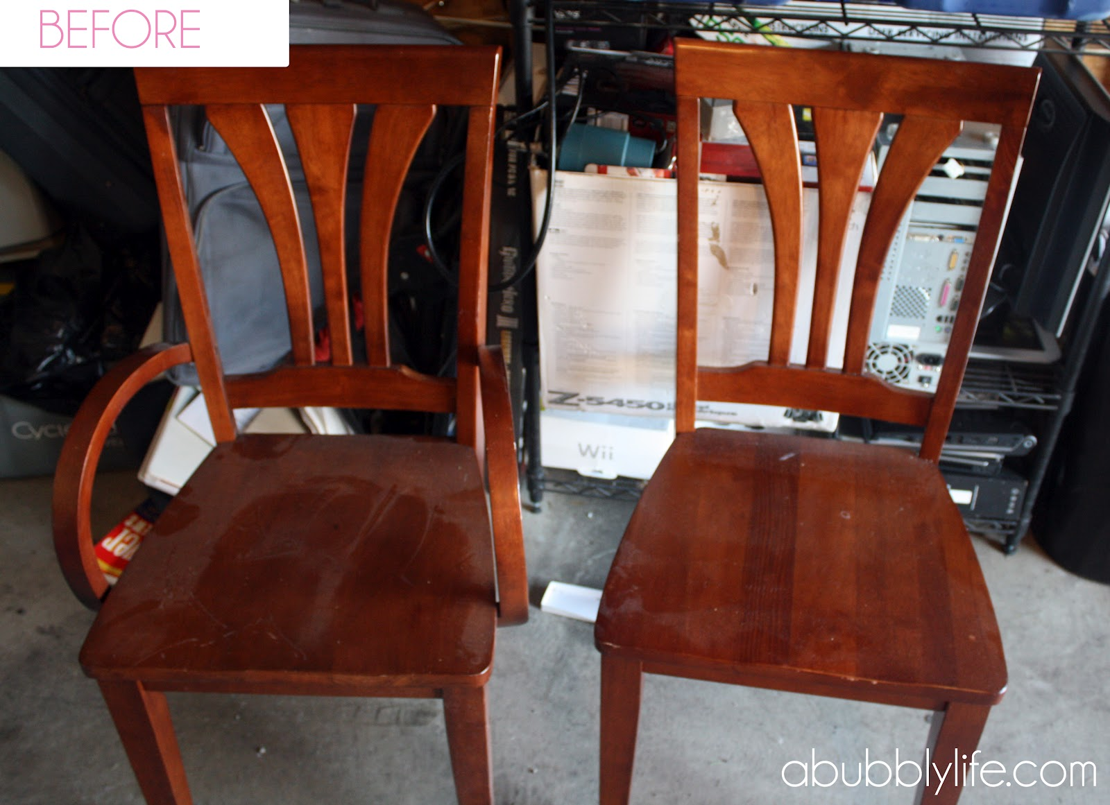 A Bubbly Life How To Paint A Dining Room Table Chairs Makeover Reveal
