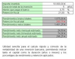 Calculo de Rendimientos de Capital