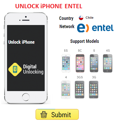 unlock entel chile iphone 5S, 5C, 5, 4S and 4