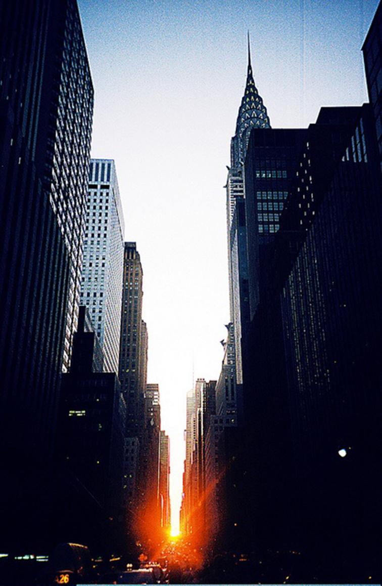 New York City sundown from Tudor City, Chrystler building