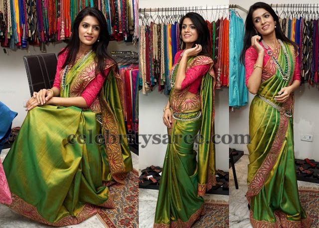 Ritu Bradar Cut Work Saree