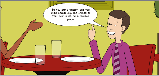 writer comic strip 3