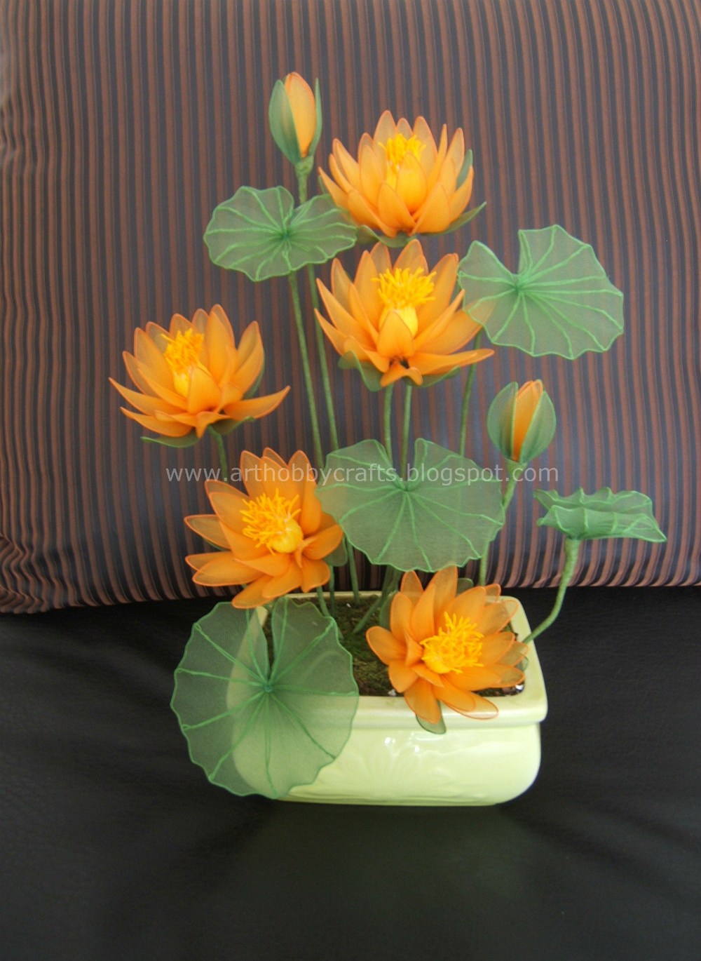 Stocking Flower Water Lily Art Hobby Crafts