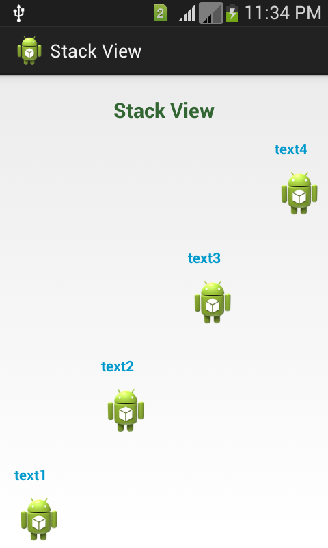 StackView Functionality