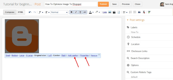 Image optimize to blogspot