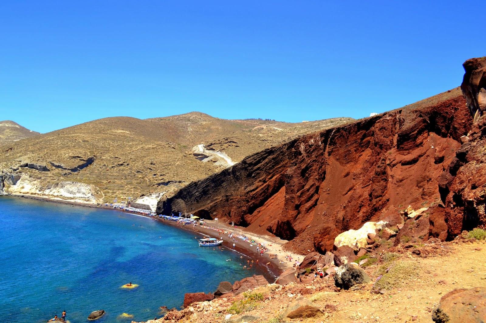 Czerwona plaża, Plaże na Santorini, wycieczka na Santorini, plaża Santorini