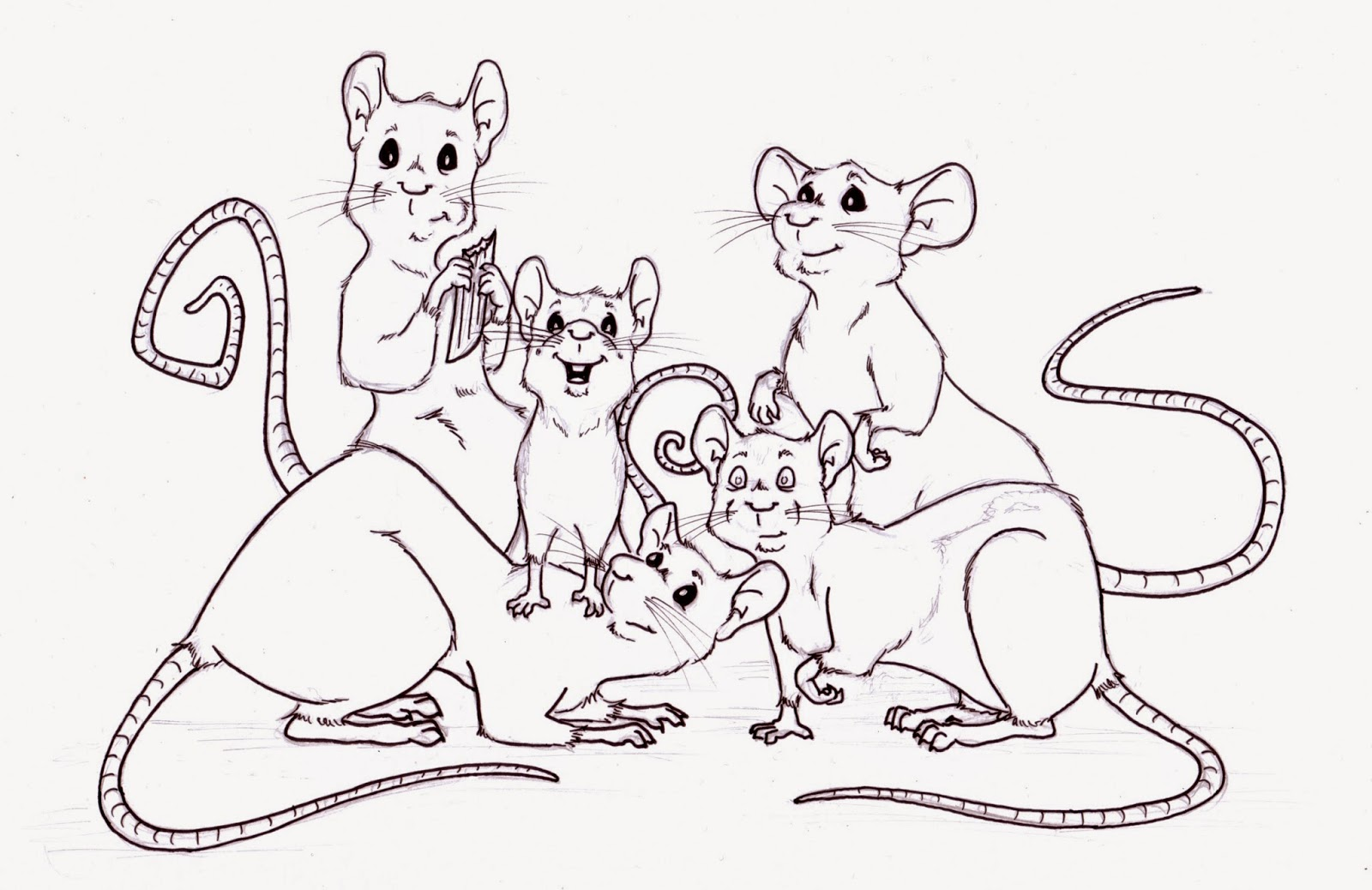 Dumbo Rat Drawing i am Currently Open For