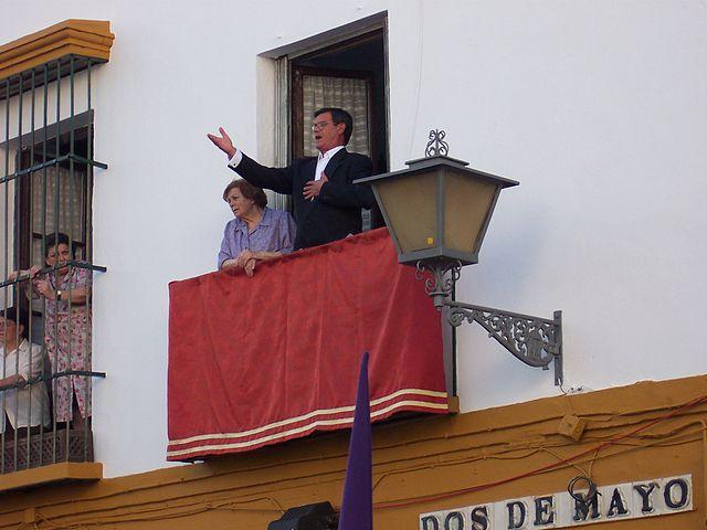 Saetas durante la Semana Santa de Sevilla