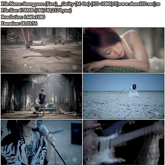 Download PV Seungyeon (Kara) - Guilty (M-On Full HD 1080i)