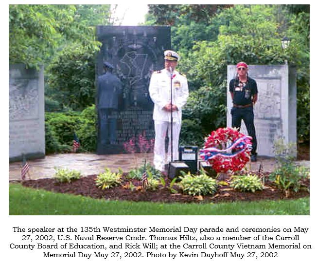 Dayhoff Soundtrack: May 27, 2002 135th Westminster Md. Memorial Day ...
