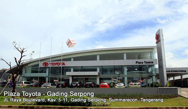 Dealer dan Bengkel Plaza TOYOTA Gading Serpong, Summarecon, Kelapa Dua | TANGERANG