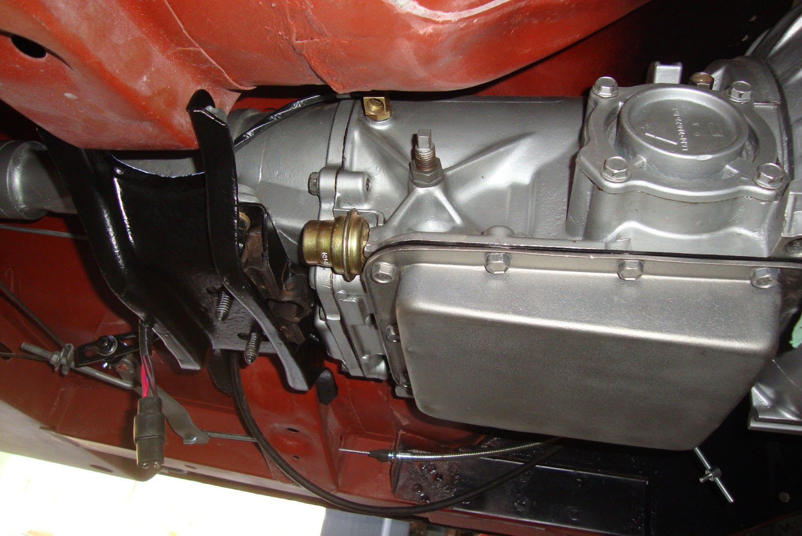 Engineinstall on 1965 Ford Mustang Fuel Pump