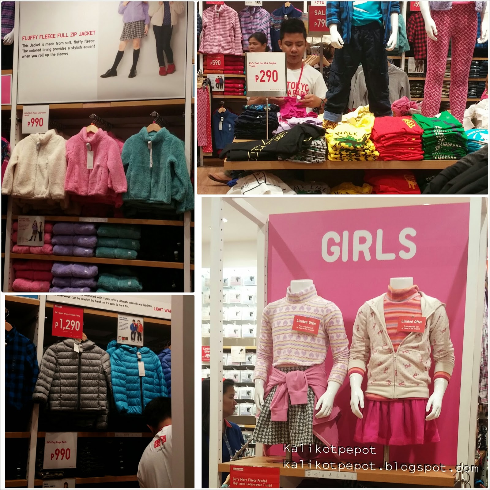 Image: UNIQLO at SM City San Lazaro [children's section]