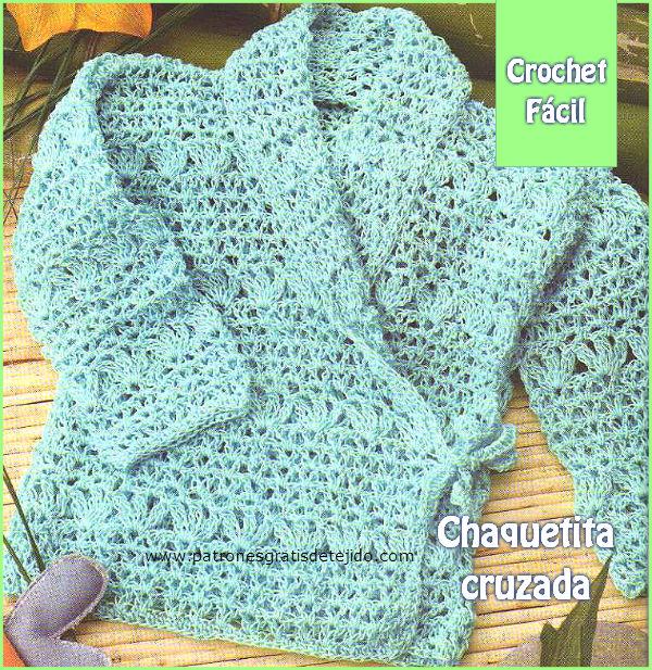 Niños / Chaquetita cruzada al crochet | Crochet y Dos agujas ...