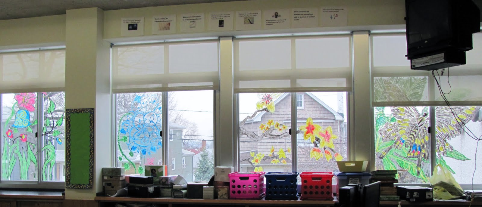 Classroom Window Design ~ How to decorate a classroom beautifully teaching tofu