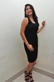 Actress Kruthika Jayakumar Pictures in Black Dress at Vinavayya Ramayya Movie Audio Release  0127.jpg