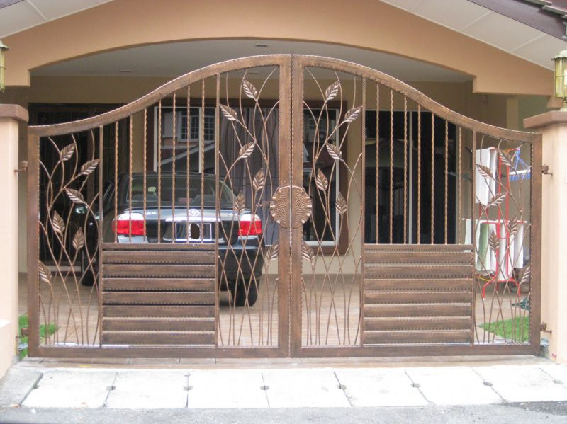 Modern homes iron main entrance gate designs ideas for Contemporary house main door designs