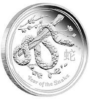 Kača Lumar 2 Perth Mint kovnica 2013 srebrna serija - Year of the Snake