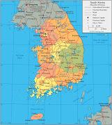 Mapas da Coreia do Sul Mapa (mapa coreia do sul mapas )