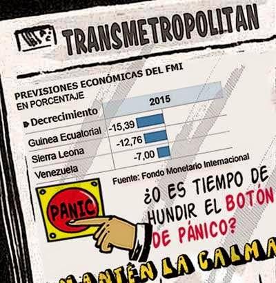 Front page tipo cómic - FMI y Venezuela 2015