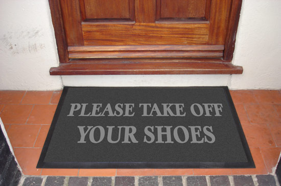 Take Shoes Off In House Extraordinary With Take Off Your Shoes Mat Pictures