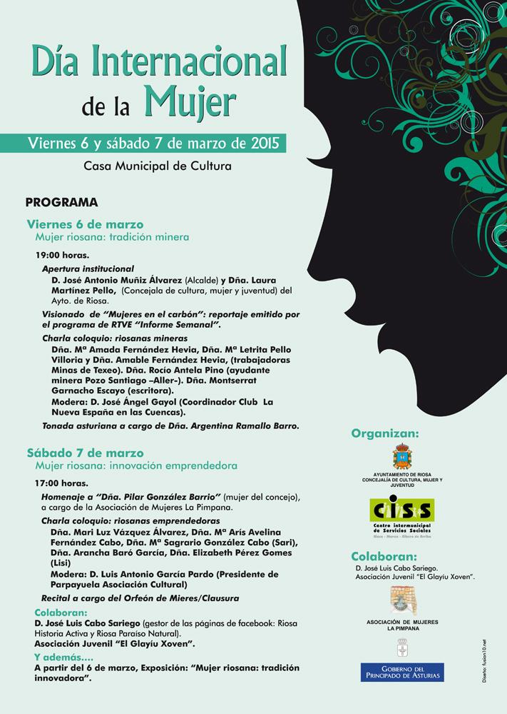 Día Internacional de la Mujer, Riosa, cartel