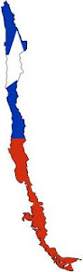 Chile-Flag map