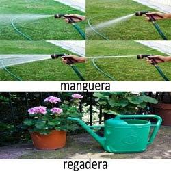 un jardín grande y con césped de seguro necesitarás una manguera.