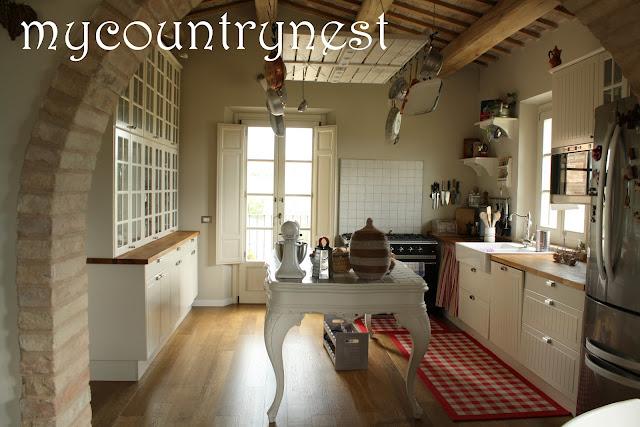 My country nest recupero in cucina isola e rastrelliera for Costo isola cucina