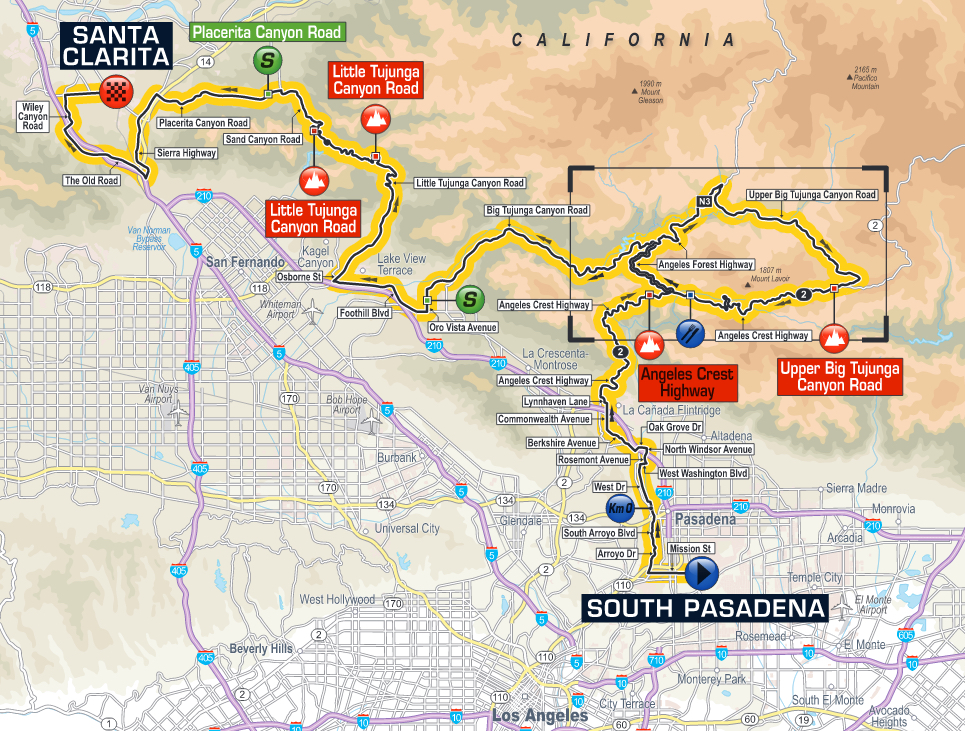 Stage Route and Maps Tour of California 2016   Pedal Dancer®