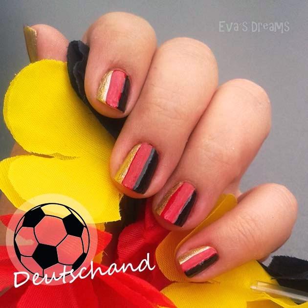 WM 2014 Deutschland Nägel - Nail art