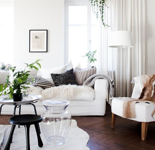 Pinspiration: Clean, Fresh Living Room | Maisy Meow