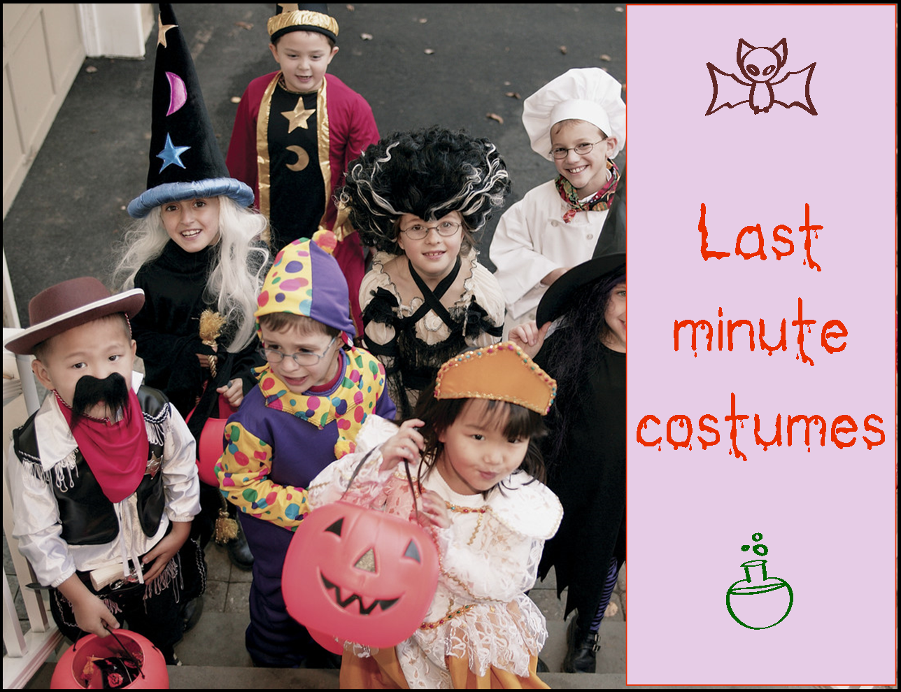 Last minute DIY Halloween  costume ideas ~ Life in Random Bits #halloween #costumes #kids #diy