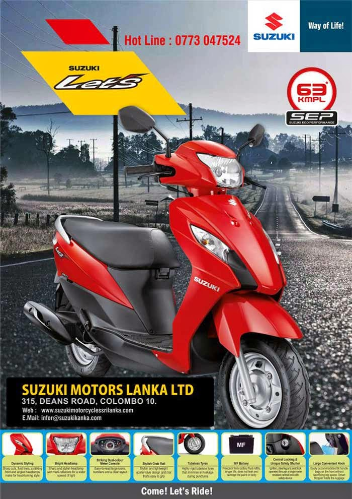 We offer through our Showroom and Parts Centre, situated in the heart of Colombo, a wide Range of Motorcycle Models and Spare Parts.  The Urban and Rural Markets are catered to through our established Islandwide Dealer Network
