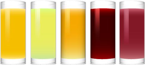 zumos de frutas vectoriales
