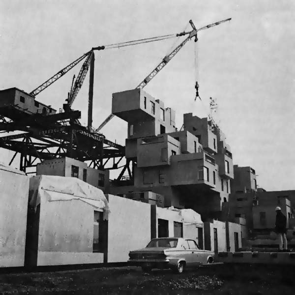Harboproject moshe safdie habitat 1967 montreal for Construction habitat