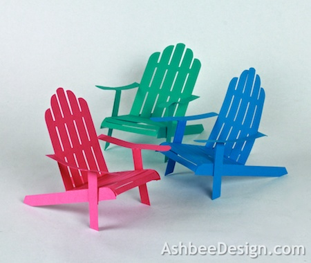 Ashbee Design Silhouette Projects 3D Adirondack Chair Silhouette