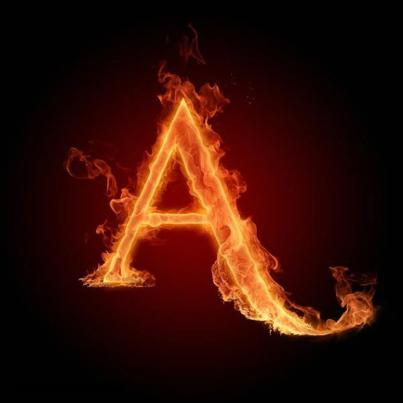 Fire Alpha Bet A To Z HD Wallpaper