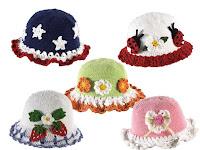 bebek şapkaları çilekli,kalpli,yıldızlı ve uğur böcekli